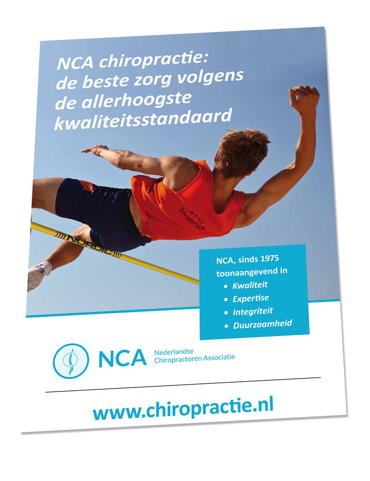 voorbeeld van kaft brochure nederlandse chiropractoren associatie